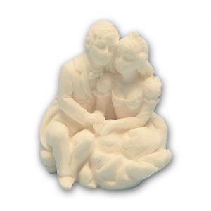 Item # 11200 - Bruidspaar Marmer Zittend op de Grond - Maat 5,5