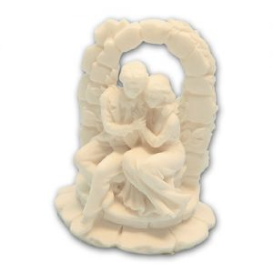 Item # 11641 - Bruidspaar Marmer Bij Muurtoog - Maat 9,5 cm