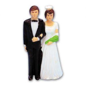 Item # 190 - Bruidspaar Figurine Kunststof - Maat 10 cm