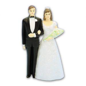 Item # 191 - Bruidspaar Figurine Kunststof - Maat 11 cm