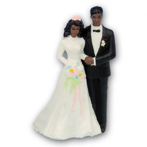 Bruidspaar Kunststof C - Donkere Bruid met Donkere Bruidegom