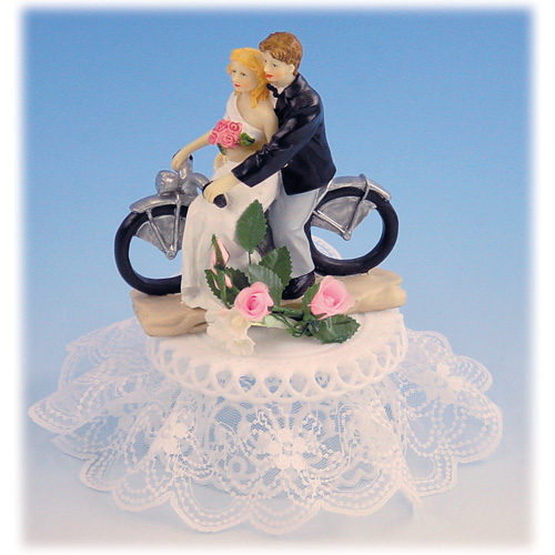 Bruidspaar op Motorfiets met Voet Polystone