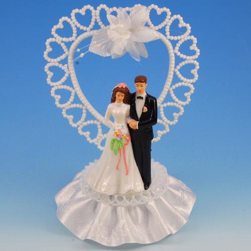 Bruidspaar Kunststof C - met groot hart