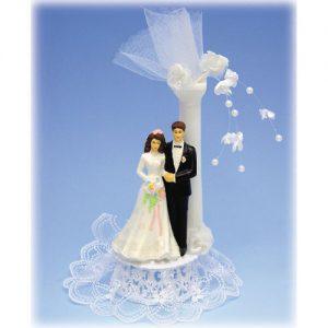Bruidspaar Kunststof C - op voetje met zuil