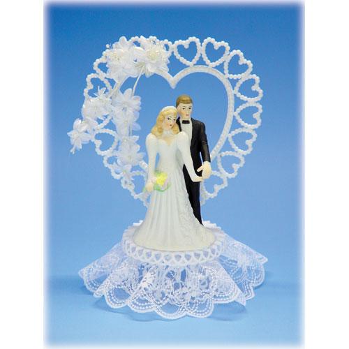 Bruidspaar Porselein D - op voetje met hart