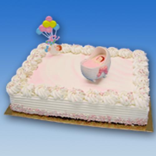 Wieg en Baby Ballon - Meisje - Taart decoratie set
