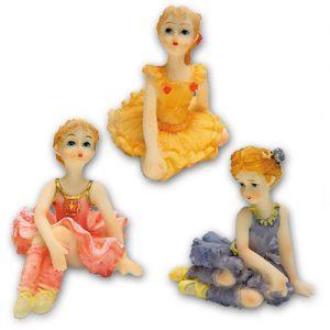 Ballerina Meisjes - 3 modellen - 6 stuks