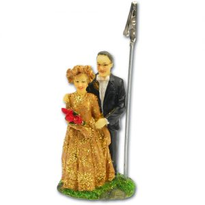 Jubileum Bruidspaar - Goud - met knijper