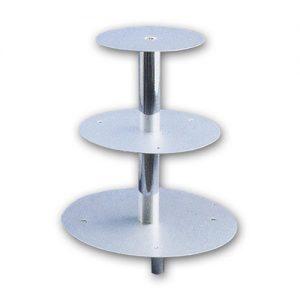 Taart Standaard Aluminium - 3 Etages