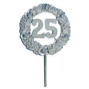 Medaille Prikker - 25 - Zilver - 12 stuks