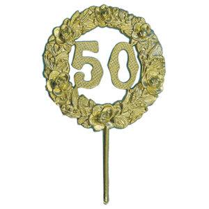 Medaille Prikker - 50 - Goud - 12 stuks