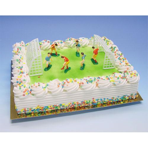 Voetballers met Goals - Taart Decoratie Set