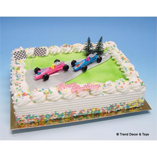 maak je van iedere taart in een handomdraai een feestelijke race auto kindertaart! Bovendien houdt uw kind er, nadat de taart op is, nog een leuk speelgoedje aan over.