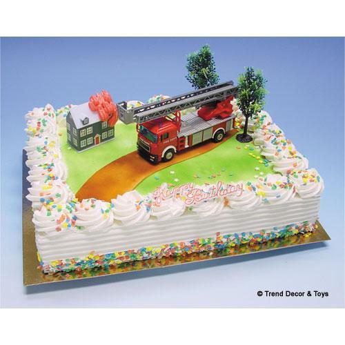 Brandweer - Taart Decoratie Set