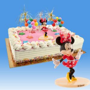 Minnie Mouse - Taart Decoratie Set