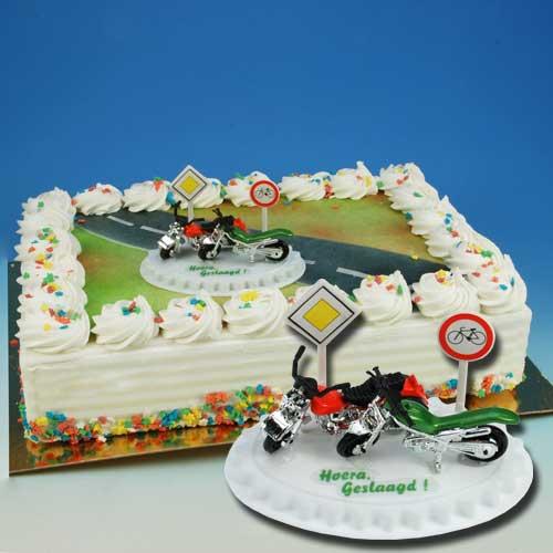 Motorrijbewijs - Taart Decoratie Set