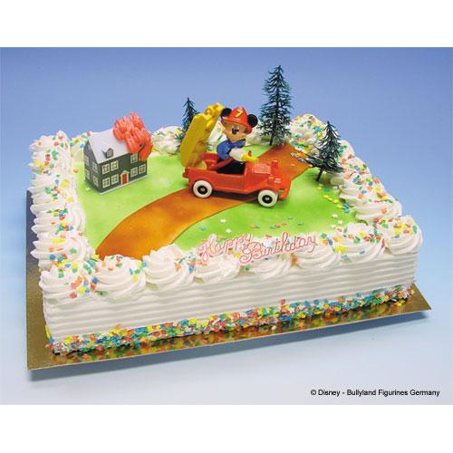 Brandweer Mickey - Taart Decoratie Set
