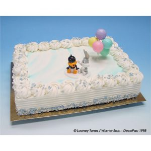 Baby Daffy Duck en Bugs Bunny - Taart Decoratie Set