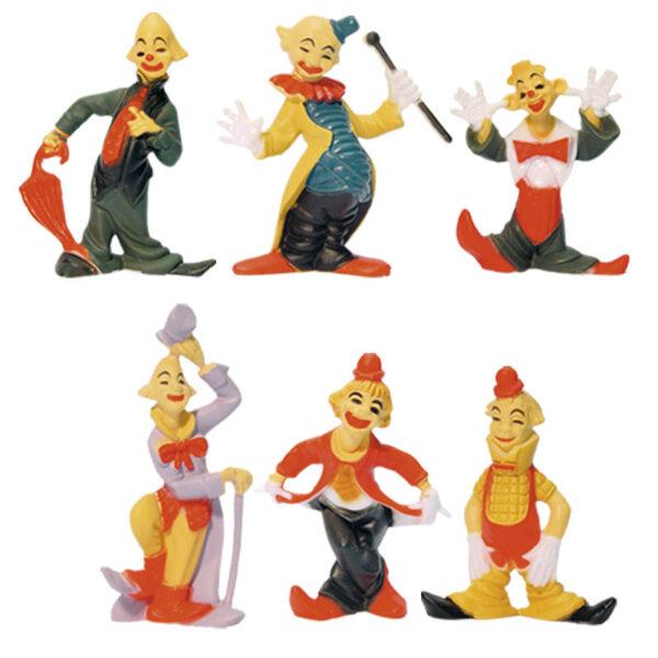 Funny Clowntjes Set - 6 Modellen per setje