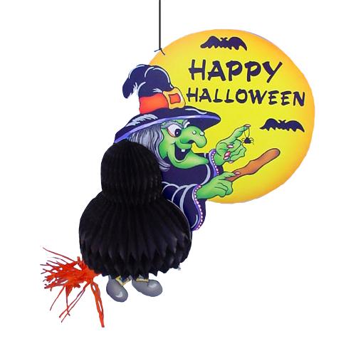 Heks Op Bezem - met tekst Happy Halloween
