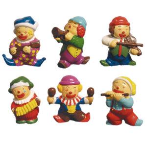 Muziek Clowntjes Set - 6 Stuks per set
