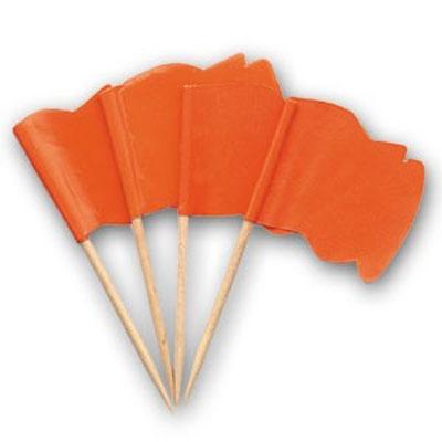 Oranje Vlaggetjes Prikkers Wapperend - 720 St./pak