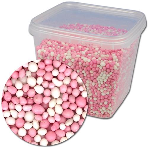 Geboorte Muisjes Mix: Roze & Wit - 750g/pot