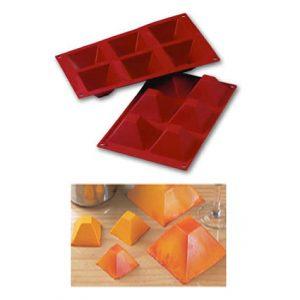 Item # SF007 - Siliconflex Siliconen Bakvorm Piramides