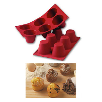Item # SF052 - Siliconflex Siliconen Bakvorm Grote Muffins