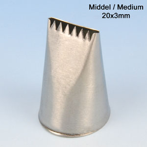 Item # 204301 - RVS Spuitje - Carree Model - 20x3 mm