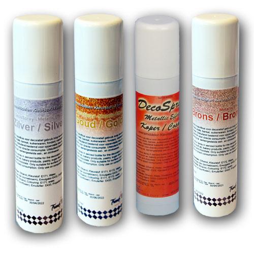 Voedingskleurstof Metallic Spray - in diverse kleuren