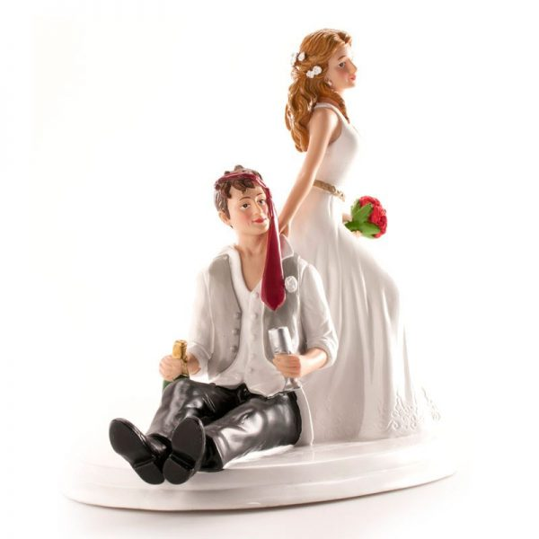 Bruidspaar Grappig - Dronken Bruidegom