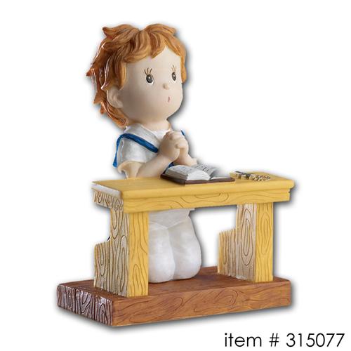 item # 315077 - Communie Jongen (Aan bankje)