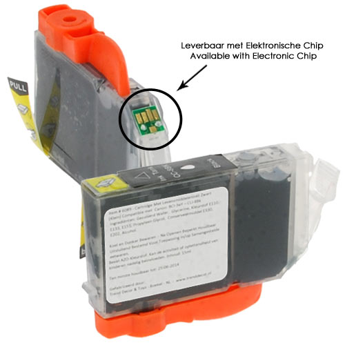 Cartridge Eetbare Inkt Zwart (smal)- IP4300 / IP4500