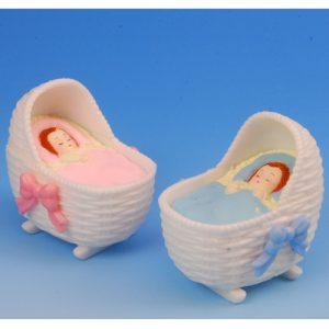 Baby Wiegjes - Roze & Blauw - 6 stuks