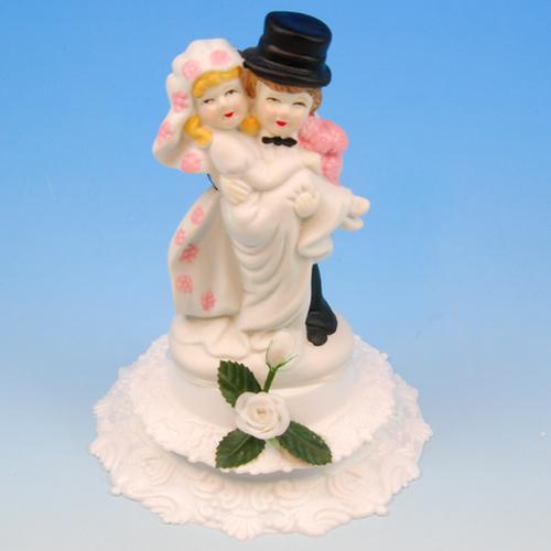 Bruidspaar Porselein B roos