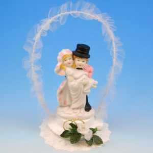 Bruidspaar Porselein B boog
