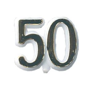 Cijfertje - 50 Goud - 24 stuks