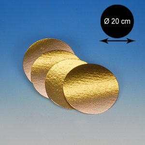 item #540053 - Goudkartons Rond Ø 20cm - 10st.