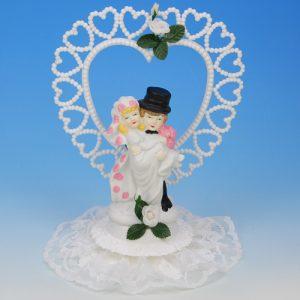 Bruidspaar Porselein B hart