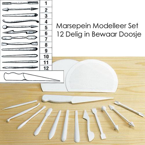 item # 1627 - Marspepein Modelleer Set - 12 Delig
