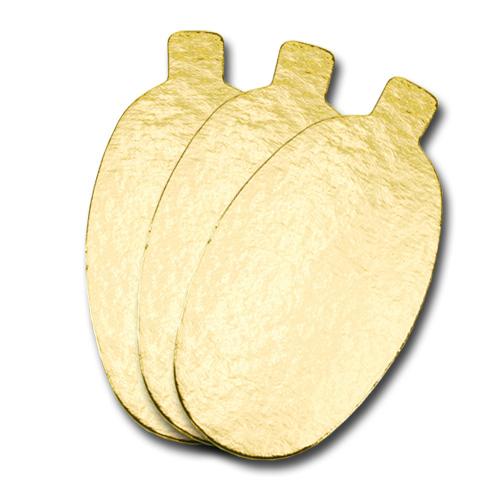 Goudkarton - Ovaal met lip - 5,5 x 9,5cm