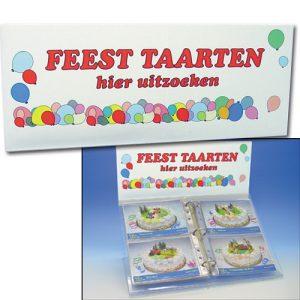 Top Bordje voor Foto Display - Feest Taarten Hier Uitzoeken