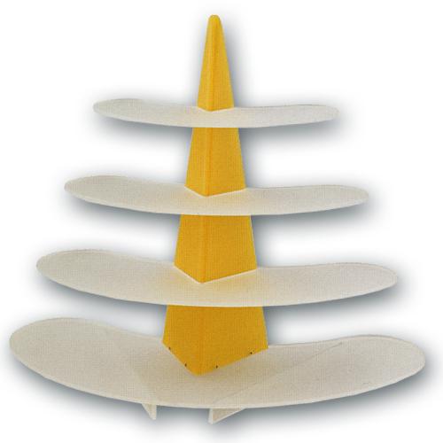 Taart Standaard Modern Ovaal Geel
