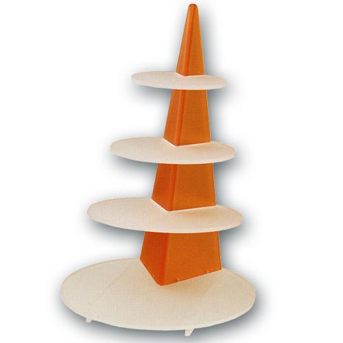 Taart Standaard Modern Oranje Rond