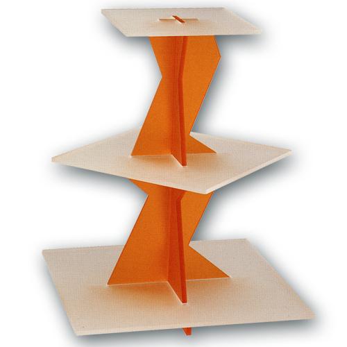Taart Standaard Modern Oranje Vierkant