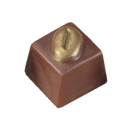Polycarbonaat Bonbon Chocoladevorm: Vierkant Mokkaboon