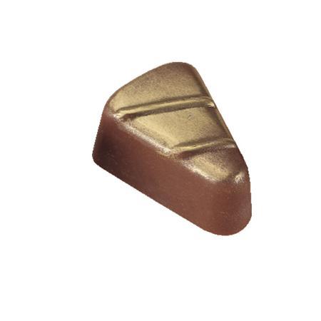 Polycarbonaat Bonbon Chocoladevorm: Driehoek met Strepen
