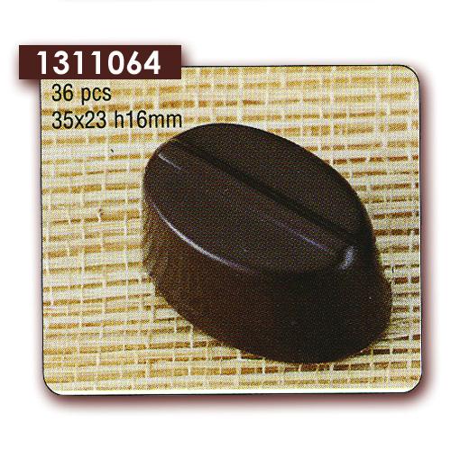 Polycarbonaat Bonbon Chocoladevorm Ovaal met streep