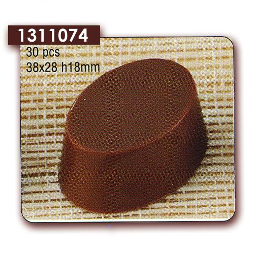 Polycarbonaat Bonbon Chocoladevorm Ovaal Strak